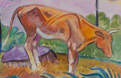 William Sommer Cow in Landscape - 870121