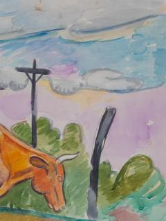 William Sommer Cow in Landscape - 870122