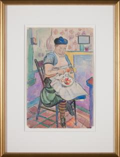 William Sommer Woman with Striped Stockings - 870019
