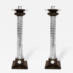 William Spratling Pair of Monumental Sterling Silver Ebony Candlesticks by William Spratling - 182035