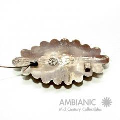 William Spratling Rare William Spratling Brooch Sterling Silver with Mexican Cabochon Jade - 395352
