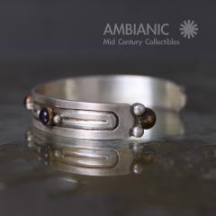William Spratling William Spratling Cuff Bracelet Sterling Brass Amethyst - 203728