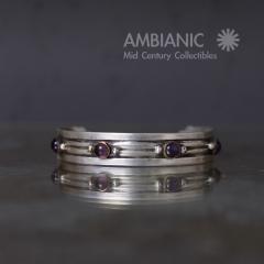 William Spratling William Spratling Cuff Bracelet Sterling Brass Amethyst - 203730
