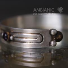 William Spratling William Spratling Cuff Bracelet Sterling Brass Amethyst - 203731