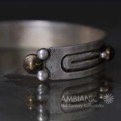 William Spratling William Spratling Cuff Bracelet Sterling Brass Amethyst - 203735