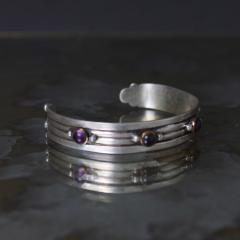 William Spratling William Spratling Cuff Bracelet Sterling Sterling Brass Amethyst 1940s Mexico - 1698142