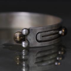 William Spratling William Spratling Cuff Bracelet Sterling Sterling Brass Amethyst 1940s Mexico - 1698143