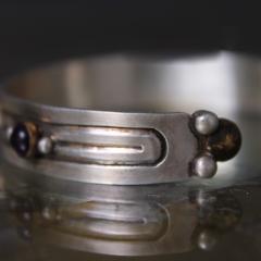 William Spratling William Spratling Cuff Bracelet Sterling Sterling Brass Amethyst 1940s Mexico - 1698147