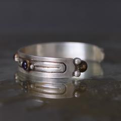 William Spratling William Spratling Cuff Bracelet Sterling Sterling Brass Amethyst 1940s Mexico - 1698148