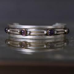William Spratling William Spratling Cuff Bracelet Sterling Sterling Brass Amethyst 1940s Mexico - 1698149