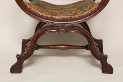 William and Mary Period Walnut X Frame Chair - 1821982