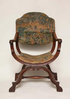 William and Mary Period Walnut X Frame Chair - 1821983