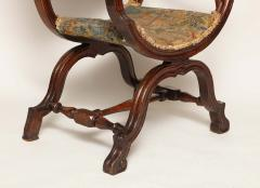 William and Mary Period Walnut X Frame Chair - 1821985