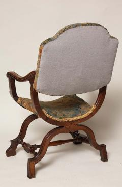William and Mary Period Walnut X Frame Chair - 1821987