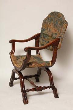 William and Mary Period Walnut X Frame Chair - 1821988