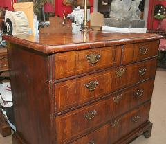 William and Mary Yew Wood Veneered Chest of Drawers - 263601