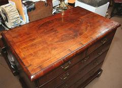 William and Mary Yew Wood Veneered Chest of Drawers - 263604