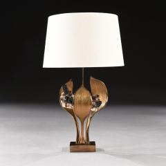 Willy Daro IMPRESSIVE 1970 GILT BRONZE AND QUARTZ LAMP BY WILLY DARO - 2010418