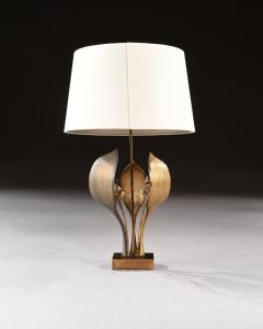 Willy Daro IMPRESSIVE 1970 GILT BRONZE AND QUARTZ LAMP BY WILLY DARO - 2010436