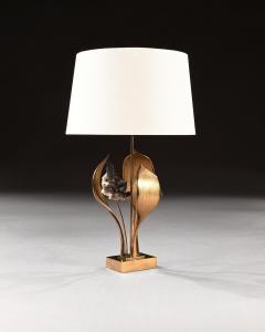 Willy Daro IMPRESSIVE 1970 GILT BRONZE AND QUARTZ LAMP BY WILLY DARO - 2010439