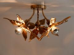 Willy Daro Large Mid Century Modern Ceiling Fixture or Wall Lamp by Willy Daro for Massive - 1801410