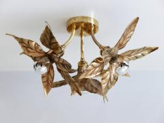 Willy Daro Large Mid Century Modern Ceiling Fixture or Wall Lamp by Willy Daro for Massive - 1801419