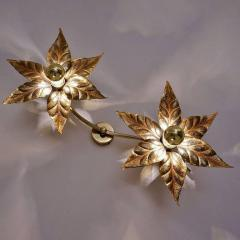 Willy Daro One of Five of Willy Daro Style Brass Flowers Wall Lights - 1337029