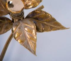 Willy Daro One of Five of Willy Daro Style Brass Flowers Wall Lights - 1337034