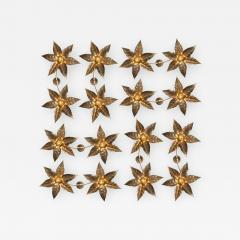 Willy Daro One of the Eight Willy Daro Style Brass Dubble Wall Lights by Massive Lighting - 988038