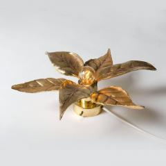 Willy Daro One of the Two Willy Daro Style Brass Flowers Wall Lights by Massive Lighting - 1337013