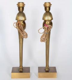 Willy Daro Pair of Bronze Egyptian lamps by Willy Daro - 853822