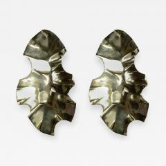 Willy Daro Pair of Bronze Sculptural Sconces by Willy Daro - 854398