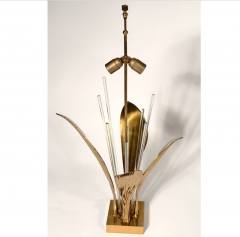 Willy Daro Pair of Rare Table Lamps leaf bronze by Willy Daro - 769820