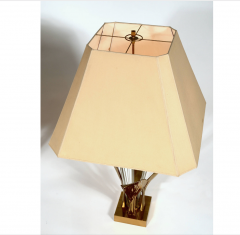 Willy Daro Pair of Rare Table Lamps leaf bronze by Willy Daro - 769822