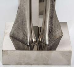 Willy Daro Pair of Table Lamps in silver bronze by Willy Daro - 2135528
