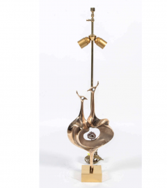 Willy Daro Pair of Table lamps By Willy Daro whit agate set - 772287