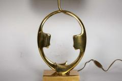 Willy Daro Pair of sculptural bronze lampsby Willy Daro - 1208207