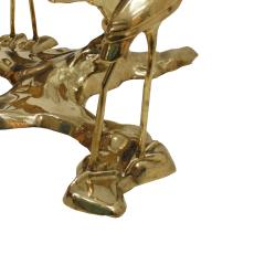 Willy Daro Willy Daro 1970s French Sculptural Brass and Glass Coffee Table - 2027416