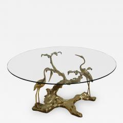 Willy Daro Willy Daro 1970s French Sculptural Brass and Glass Coffee Table - 2029131