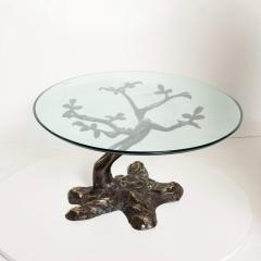 Willy Daro Willy Daro Contemporary Postmodern Bronze Bonsai Tree Coffee Table Mid Century - 1181123