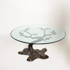 Willy Daro Willy Daro Contemporary Postmodern Bronze Bonsai Tree Coffee Table Mid Century - 1181125