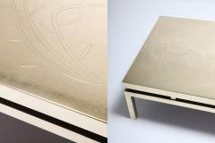 Willy Daro Willy Daro Signed High End Brass Coffee Table 1970s - 984790