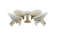 Willy Guhl ITALIAN SCULPTURAL CONCRETE CHAIRS - 1954503