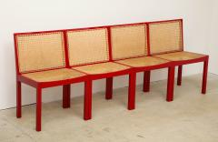 Willy Guhl Set of Four Red Lacquered Bankshuhl Chairs by Willy Guhl for Stendig - 660627