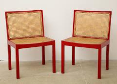 Willy Guhl Set of Four Red Lacquered Bankshuhl Chairs by Willy Guhl for Stendig - 660628