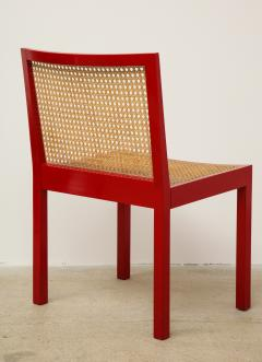 Willy Guhl Set of Four Red Lacquered Bankshuhl Chairs by Willy Guhl for Stendig - 660632