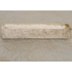 Willy Guhl Set of Three Swiss 20th Century Rectilinear Stone Planters by Willy Guhl - 1782592