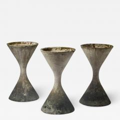 Willy Guhl Three planters by Willy Guhl with original patina - 917344