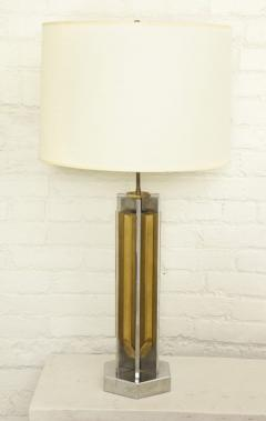 Willy Rizzo 1970s Lamp of Cast Brass and Nickel by Willy Rizzo - 271778