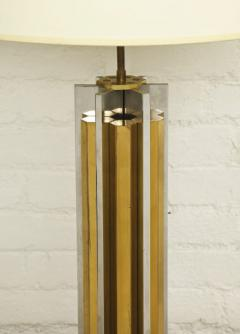 Willy Rizzo 1970s Lamp of Cast Brass and Nickel by Willy Rizzo - 271786